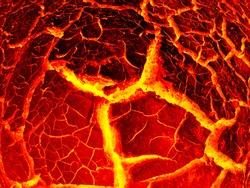 Lush lava. red lava texture background
