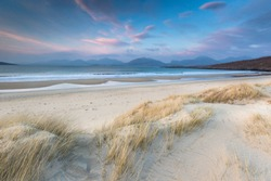 Luskentyre beach on the Isle of Harris in the Outer Hebrdes.