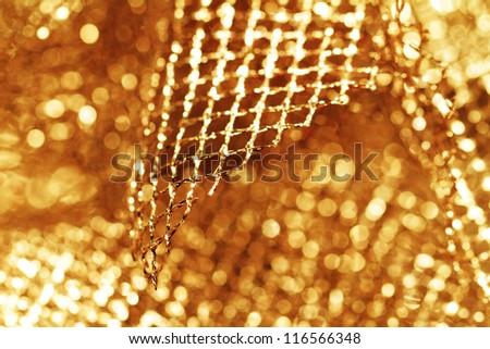 lustrous elegant golden fabric - macro