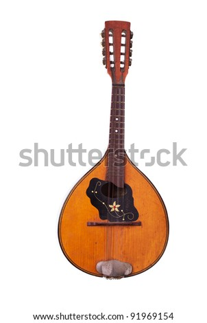 Lute isolated on white
