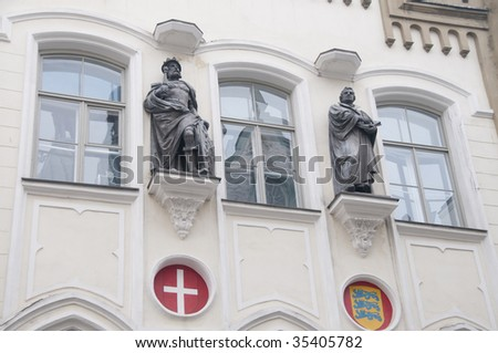 Luther and company in Tallinn - stock photo