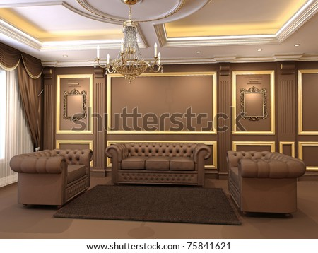 Luxe. Golden Decorative And Modern Chesterfield Sofa With ...