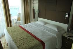 Luxerious interior of a cruise ship cabin