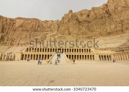 LUXOR, EGYPT - February, 2018 -  Hatshepsut Temple #1040723470