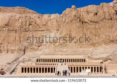 Luxor, Egypt -  The temple of Hatshepsut near Luxor in Egypt #519610072