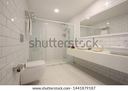 Luxurios restroom of a vacation hotel #1441879187