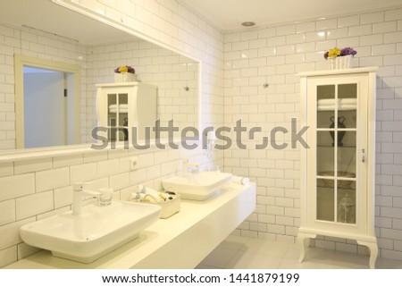 Luxurios restroom of a vacation hotel #1441879199