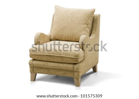 luxurious armchair isolated on white background