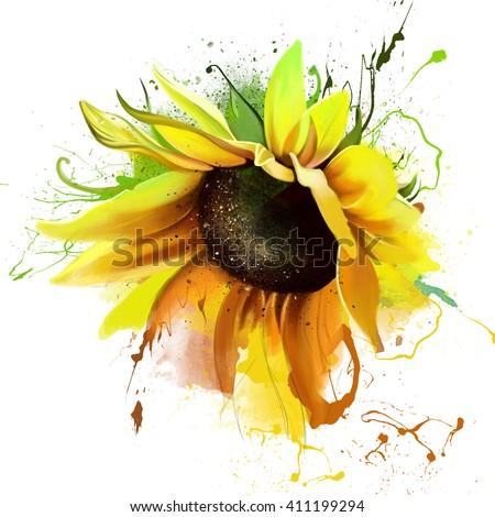 luxurious bright sunflower ...