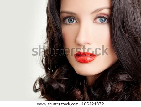 luxurious brunette. beautiful hair.