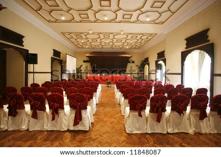 luxurious conference hall in hotel