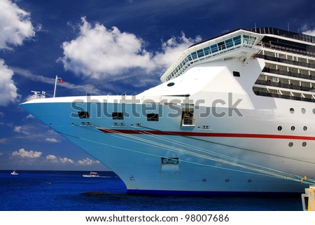 luxurious cruise ship docked at the pier