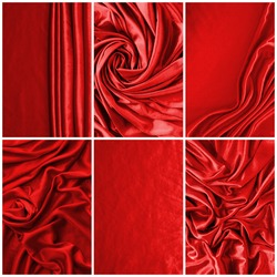 Luxurious deep satin/silk folded fabric, useful for backgrounds