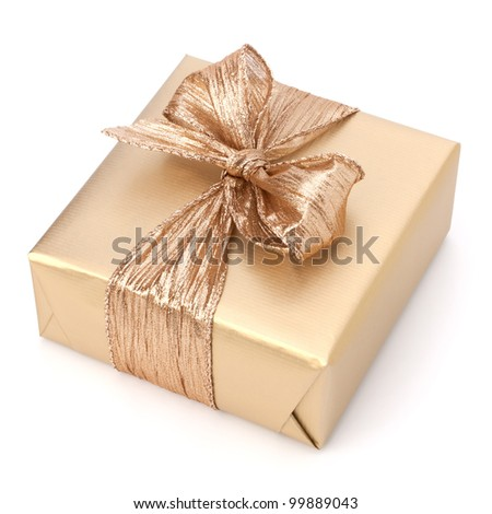 Luxurious gift isolated on white background