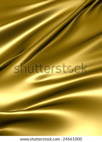 Luxurious gold silky satin fabric