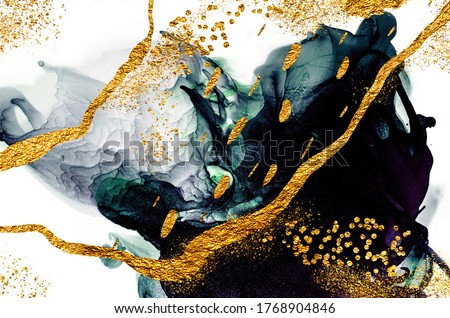 Luxurious ink bouquet nature. Very beautiful transparent creativity. Abstract artwork. Ink colors are amazingly bright, luminous, translucent, free-flowing. Masterpiece of designing art.