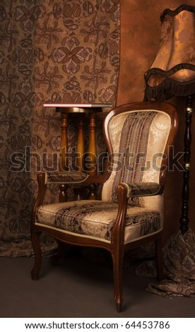 Luxurious interior in the vintage style