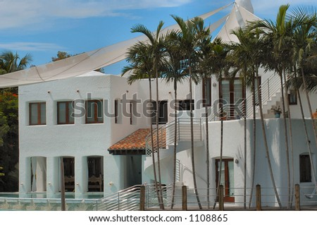 Luxurious mansion at Hibiscus island, Miami, Florida - stock photo
