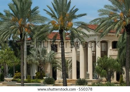 Luxurious mansion in Miami Beach, florida, U.S.A