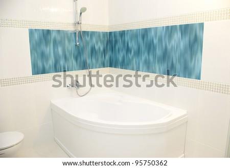 luxurious modern design of bathroom