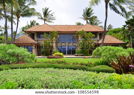Luxurious ocean side estate home on Kaanapali Beach in West Maui.