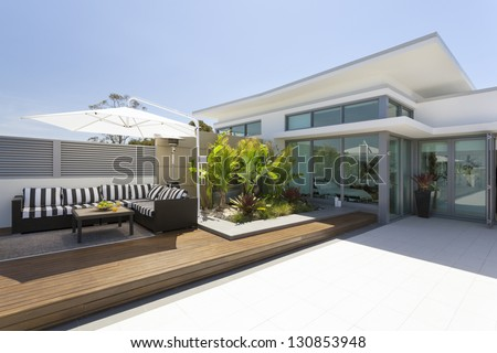 Luxurious penthouse balcony #130853948