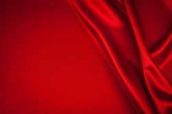 luxurious red satin background close up