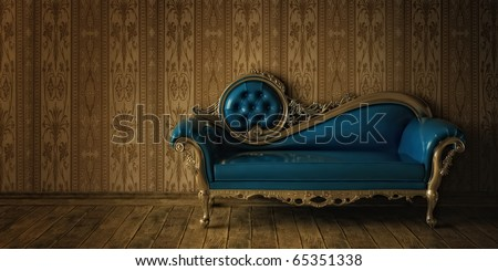 Luxurious Sofa In Grunge Styled Interior