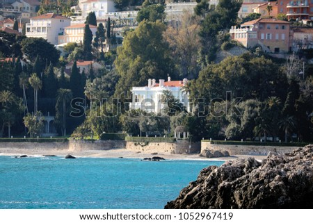 Luxurious Villa on The Beach in France, French Riviera #1052967419