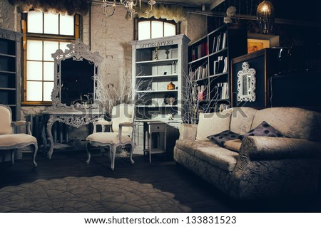 luxurious vintage interior of...