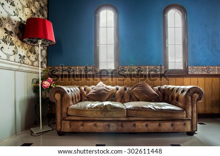 luxurious vintage sofa decorate ...