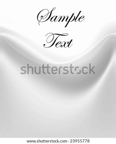 Luxurious White Satin