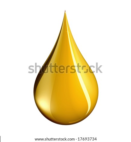 Luxury abstract. A tear shaped drop of gold -clipping path.