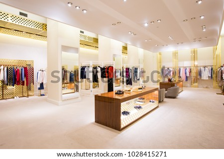 luxury accessories and cloth store interior