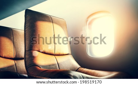 luxury airplane interior ストックフォト ©