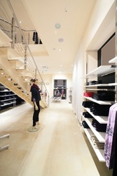 luxury and fashionable european different clothes shop