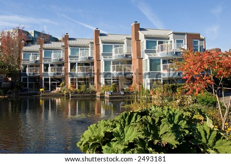 Luxury apartment comples in Vancouver, British Columbia, Canada