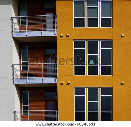 Luxury apartment (condo) building -detail
