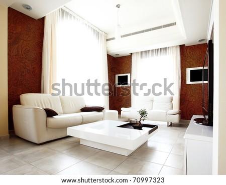 Luxury apartment with stylish modern interior design