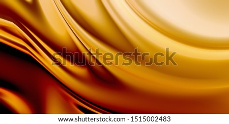 Luxury background. Smooth golden surface. 3D rendering drapery texture.