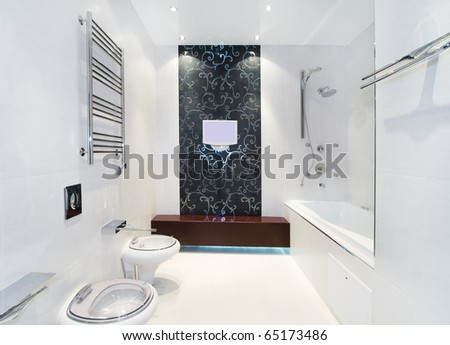Luxury bathroom - stock photo