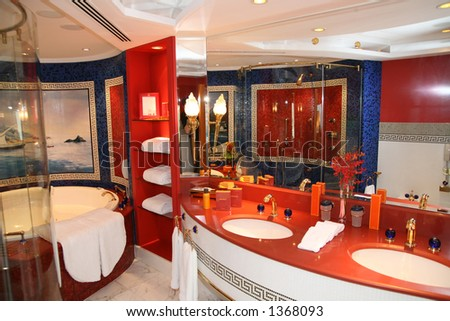 Luxury bathroom at hote