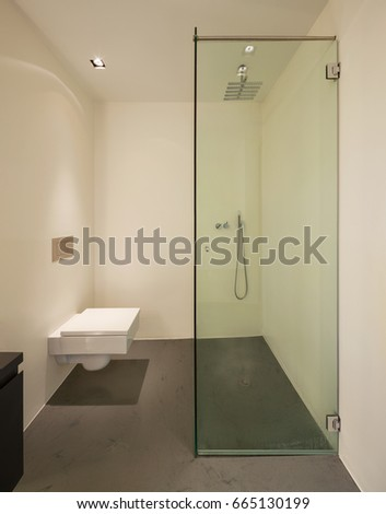 Luxury bathroom in a modern apartment. Nobody inside #665130199