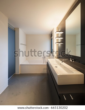 Luxury bathroom in a modern apartment. Nobody inside #665130202