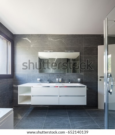 Luxury bathroom in modern apartment. Nobody inside #652140139