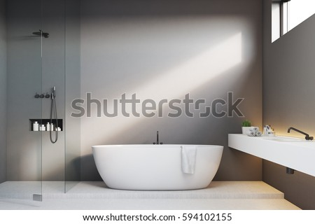 luxury bathroom interior with...