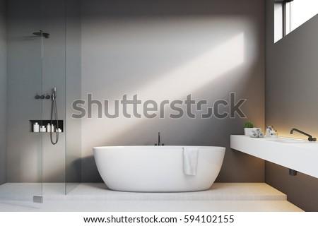 luxury bathroom interior with...