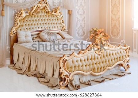 luxury bedroom in light colors...