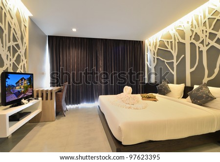 Interior Design  Bedroom on Luxury Bedroom Interior Design For Modern Life Style  Stock Photo