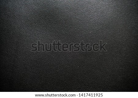 Luxury black genuine leather texture close up, Cowhide background